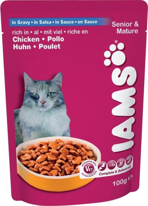 IAMS Cat Mature & Senior kapsička 100g