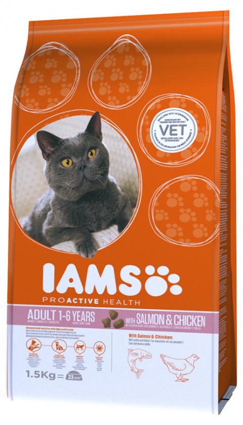 Iams Cat Adult Salmon 1,5kg