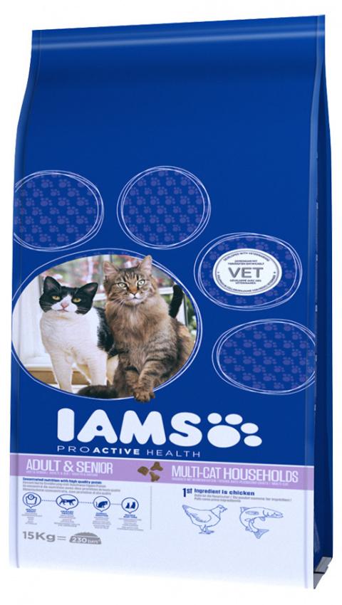 IAMS Multicat Chicken / Salmon 15kg