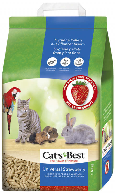 Stelivo JRS Cats Best Universal s jahodovou vůní 10l title=
