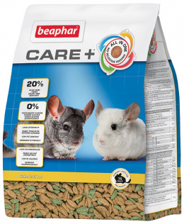 Krmivo Beaphar CARE+ Činčila 1,5 kg + Beaphar Care věrnostní karta + Beaphar Care nálepka