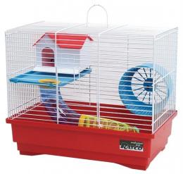 Klec Small Animals Standard S bílá + červená