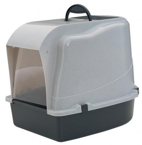Toaleta Cat-o-Net s krytem šedá