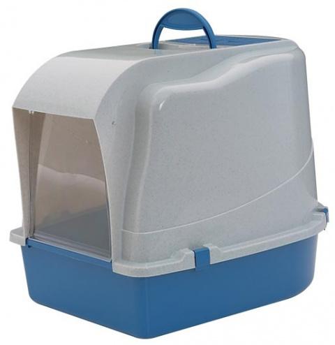 Toaleta SAVIC Cat-o-Net s krytem modro - šedá