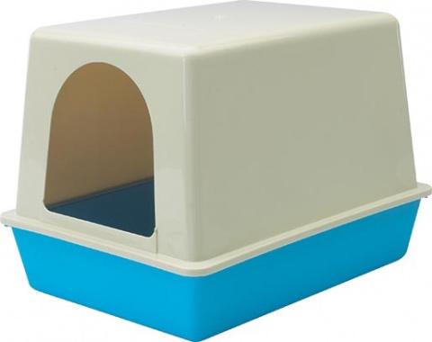 Toaleta Home s krytem modrá