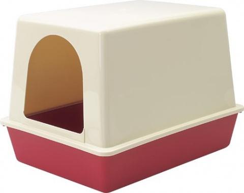 Toaleta Home s krytem červená