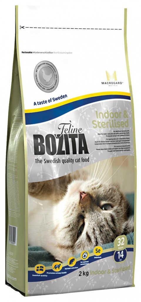 BOZITA Feline Indoor & Sterilised 2kg