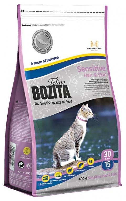 BOZITA Feline Hair & Skin 0,4kg