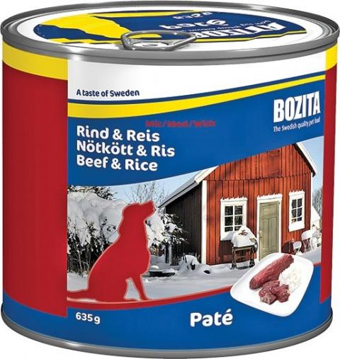 BOZITA konzerva hovězí maso a rýže 635g