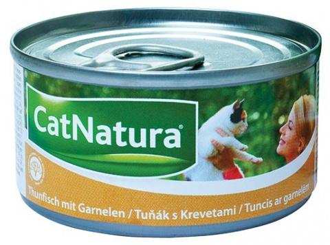 Konzerva Cat Natura Tuňák + Krevety 85g