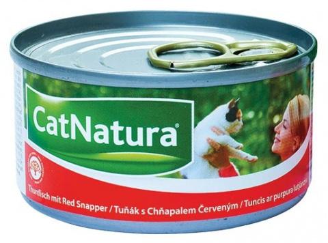 Konzerva Cat Natura Tuňák + Chňapal červený 85g