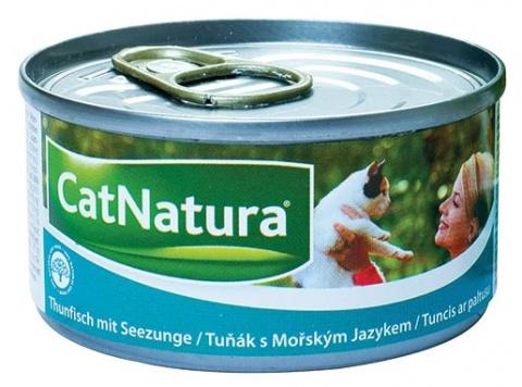 Konzerva Cat Natura Tuňák + Mořský jazyk 85g