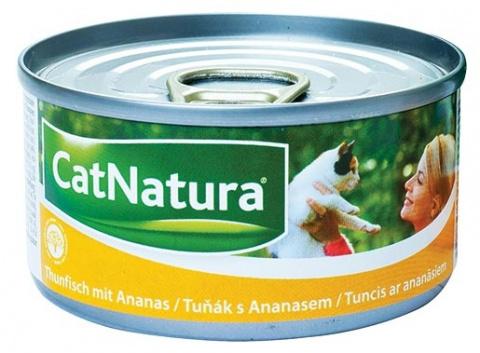 Konzerva Cat Natura Tuňák + Ananas 85g