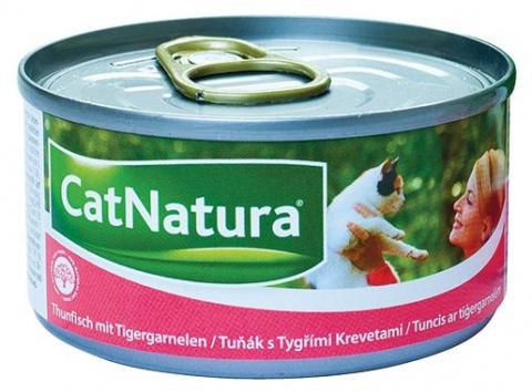 Konzerva Cat Natura Tuňák + Tygří krevety 85g