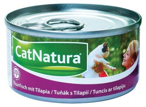 Konzerva Cat Natura Tuňák + Tilapie 85g