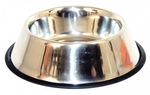 Miska DOG FANTASY nerezová s gumou 19 cm 0,45l