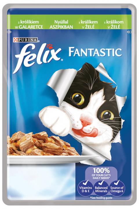 Felix Fantastic kapsička králík v želé 100g
