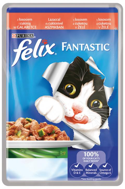 FELIX Fantastic kapsička losos a cuketa v želé 100g
