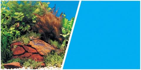 Pozadí MARINA tapeta oboustranné rostliny / modré 30 cm