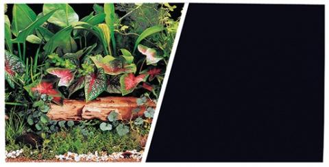Pozadí MARINA tapeta oboustranné rostliny / černé 45 cm
