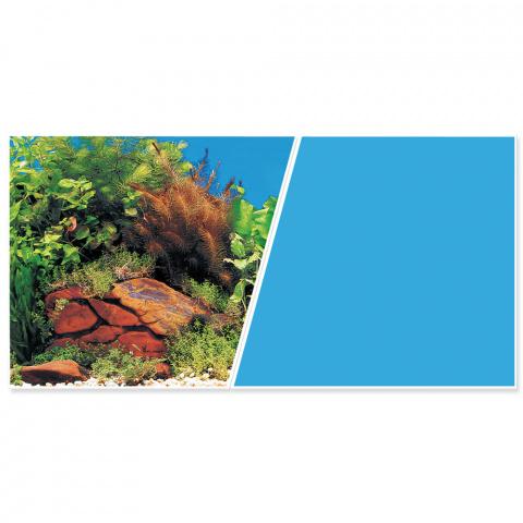 Pozadí MARINA tapeta oboustranné rostliny / modré 45 cm title=