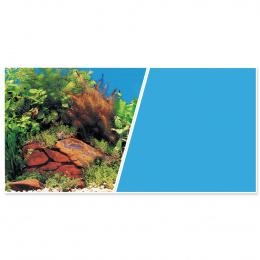 Pozadí MARINA tapeta oboustranné rostliny / modré 45 cm