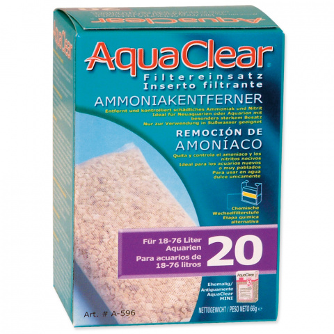 Náplň odstraňovač dusíkatých látek AQUA CLEAR 20 (AC mini) title=