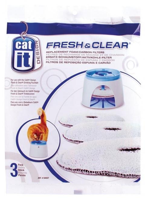 Náplň uhlíkový molitan do menší fontány CAT IT Fresh & Clear 3ks title=