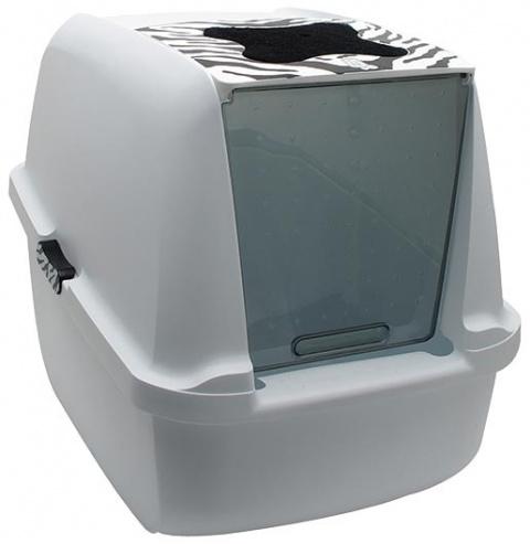 Toaleta CAT IT Design Tiger bílo - šedá