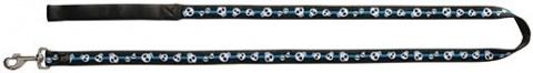 Vodítko DOG IT Lebka modro - černé XL