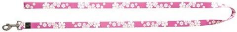 Vodítko DOG IT Květa růžovo - bílé S
