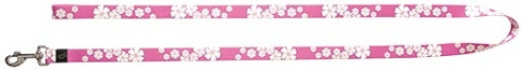 Vodítko DOG IT Květa růžovo - bílé XL