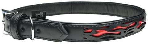 Obojek DOG IT Reflexní černo - oranžový XL