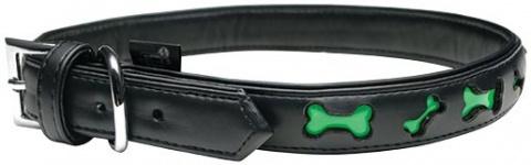 Obojek DOG IT Reflexní černo - zelený XL