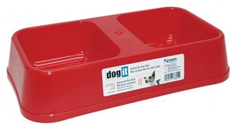 Dvojmiska DOG IT plastová 2 x 0,75 l