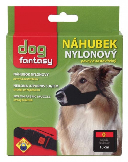 Náhubek nylon Dog Fantasy černý