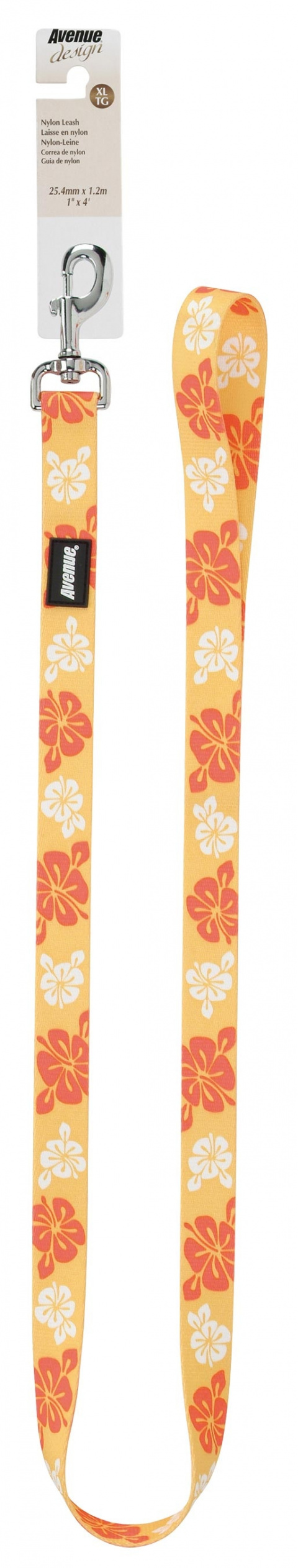 Vodítko AVENUE Hawaiian Splash žluté XL