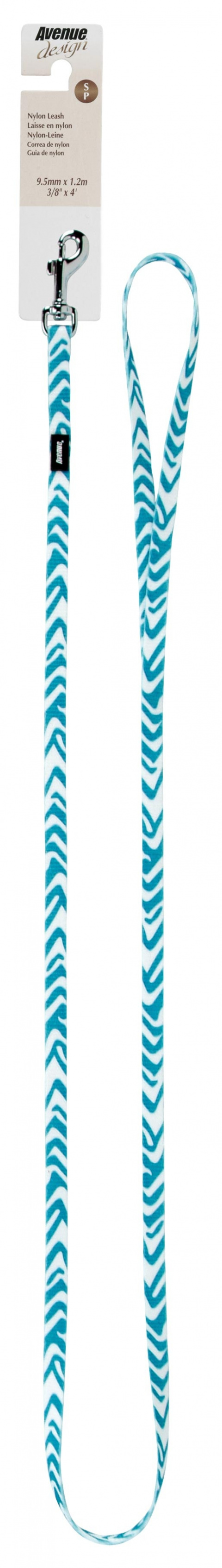 Vodítko AVENUE Zebra modré S
