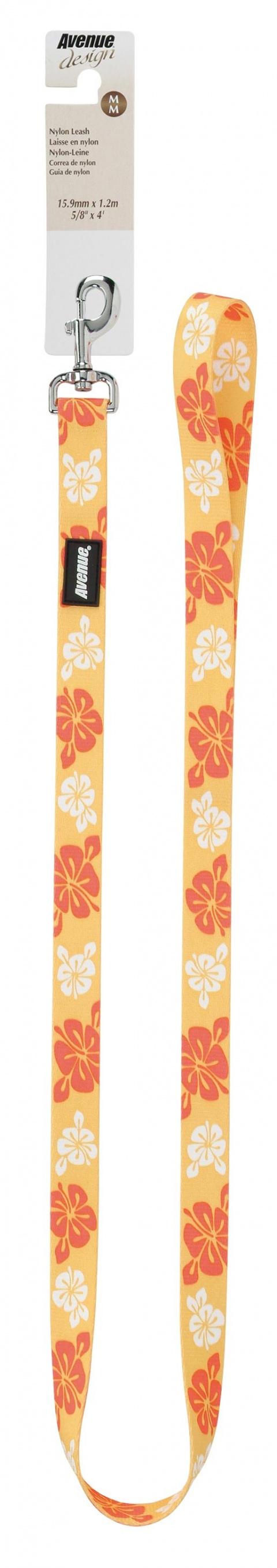 Vodítko AVENUE Hawaiian Splash žluté M