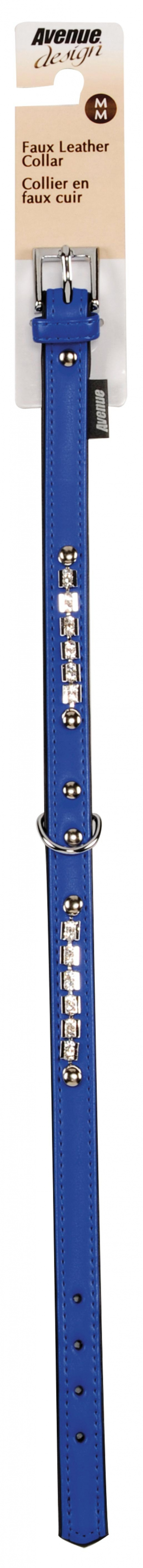 Obojek AVENUE Viva modrý M 42cm