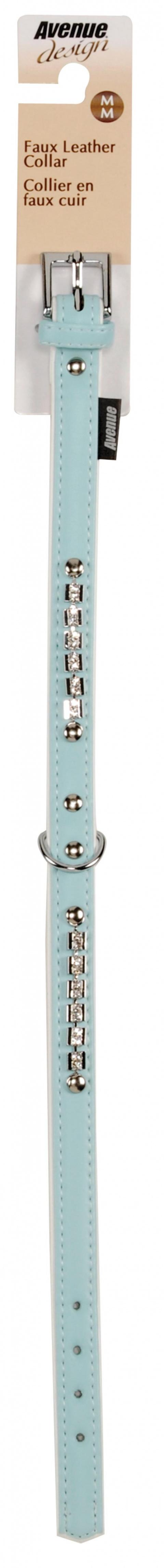 Obojek AVENUE Viva světle modrý M 42cm
