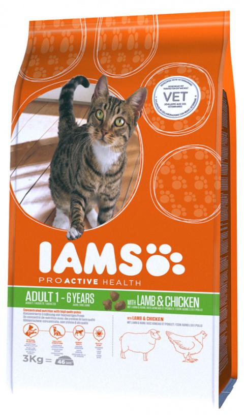 Iams Cat Adult Lamb 3kg