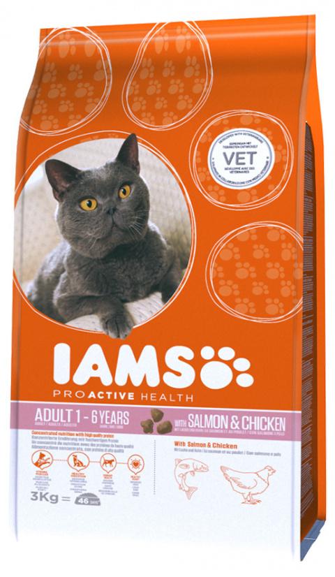 Iams Cat Adult Salmon 3kg