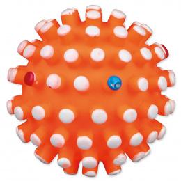 Hračka pro psy Trixie míček vinylový s bodlinami se zvukem 6cm
