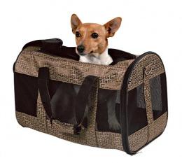 Taška přenosná pro psy Trixie Malinda bronzová 27*30*50cm