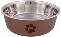 Miska nerezová pro psy Trixie s plastovým povrchem 23cm*2000ml