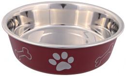 Miska nerezová pro psy Trixie s plastovým povrchem 17cm*750ml