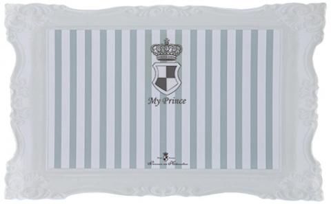 Podložka pod misky My Princess Trixie 44*28cm šedo-bílá title=