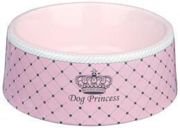 Miska keramická pro psy Trixie Dog Princess růžová 20cm*1000ml