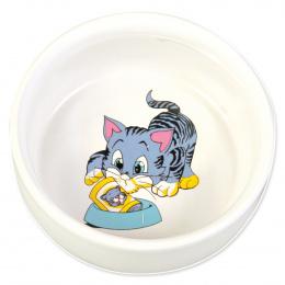 Miska keramická pro kočky Trixie 300ml *11cm bílá